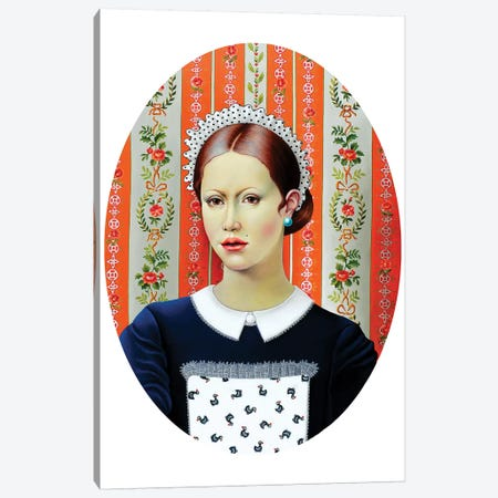 Pretty Waitress Canvas Print #LPF78} by Liva Pakalne Fanelli Canvas Art