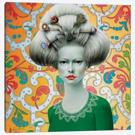 Baroque Girl Canvas Print #LPF7} by Liva Pakalne Fanelli Canvas Artwork