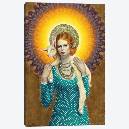 Saint Girl Canvas Print #LPF81} by Liva Pakalne Fanelli Art Print