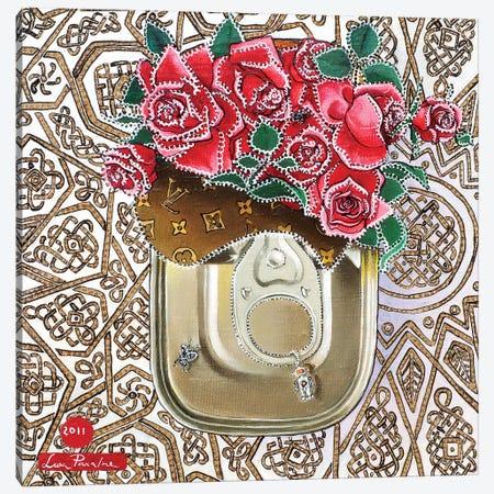 Tin Box With Roses Canvas Print #LPF82} by Liva Pakalne Fanelli Canvas Art Print