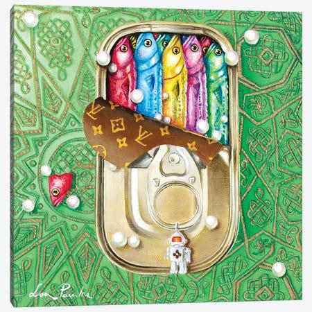 Tin Box With Sardines Canvas Print #LPF83} by Liva Pakalne Fanelli Canvas Print