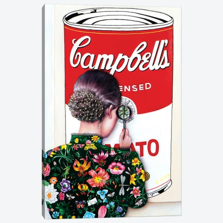 Warhol's Art Lover Canvas Print #LPF86} by Liva Pakalne Fanelli Canvas Art