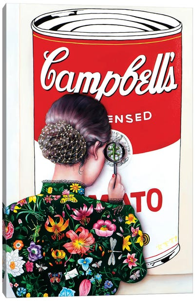 Warhol's Art Lover Canvas Art Print