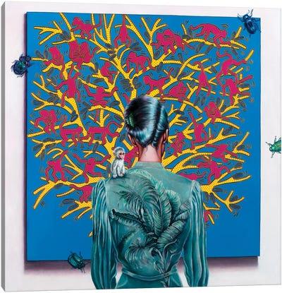 Haring's Art Lover Canvas Art Print