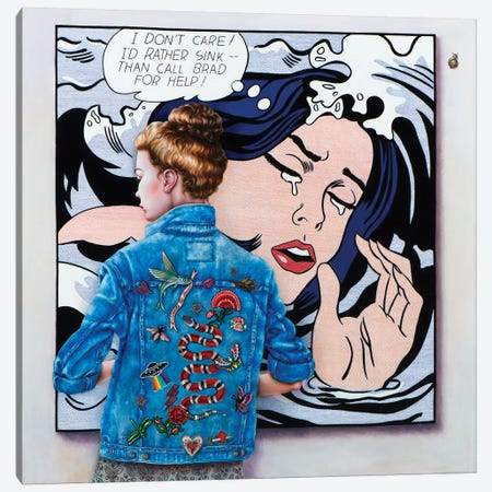 Lichtenstein Art Lover Canvas Print #LPF88} by Liva Pakalne Fanelli Art Print