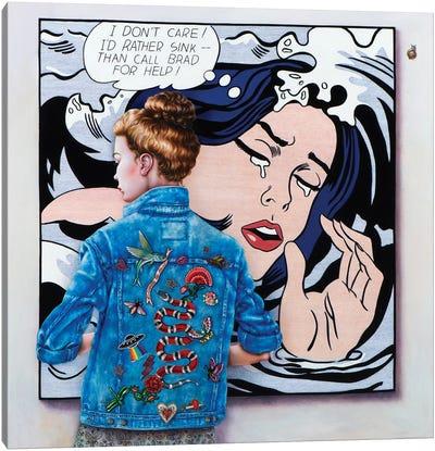 Lichtenstein Art Lover Canvas Art Print