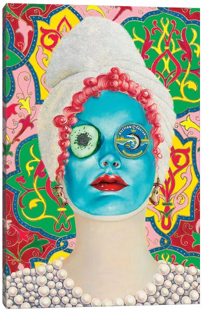 Beauty Mask With Russian Caviar Canvas Art Print