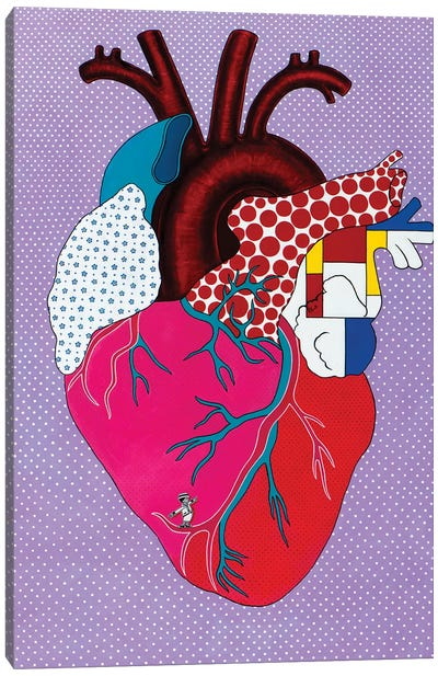 Pop HeArt Canvas Art Print