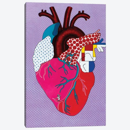 Pop HeArt Canvas Print #LPF91} by Liva Pakalne Fanelli Canvas Art