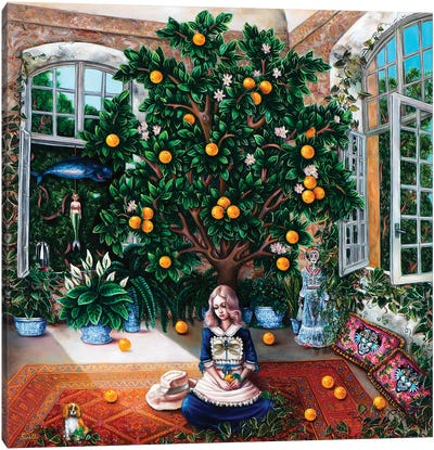 Orange Tree Canvas Art Print