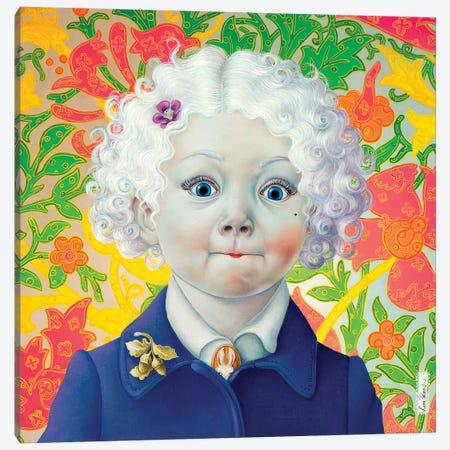 Big Eyes Canvas Print #LPF9} by Liva Pakalne Fanelli Art Print