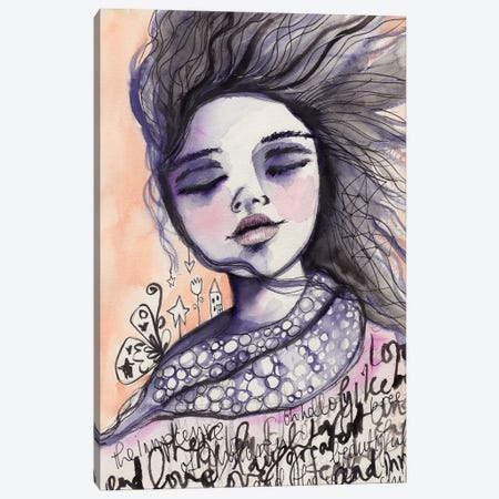 Innocence On The Wind Canvas Print #LPR102} by Tamara Laporte Art Print
