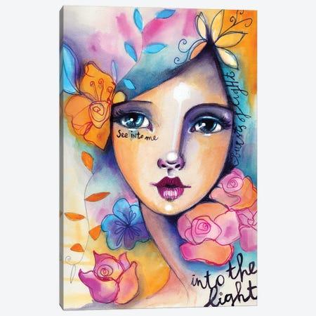 Into The Light Canvas Print #LPR103} by Tamara Laporte Art Print