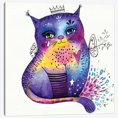 Kitty Says Herrreow Canvas Print #LPR106} by Tamara Laporte Canvas Art