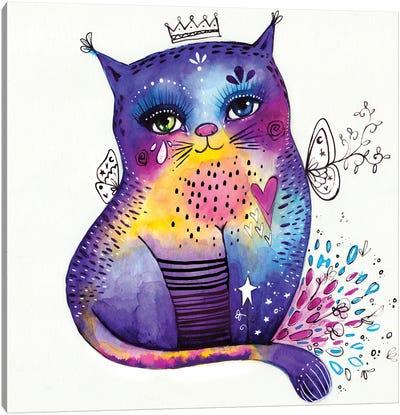 Kitty Says Herrreow Canvas Art Print
