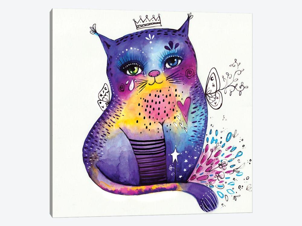 Kitty Says Herrreow by Tamara Laporte 1-piece Canvas Art Print