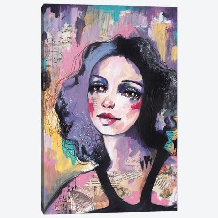 Lady Disco Canvas Print #LPR108} by Tamara Laporte Canvas Art Print