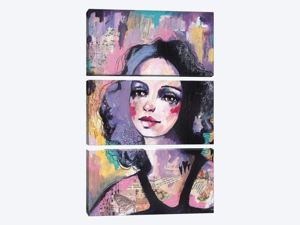 Lady Disco by Tamara Laporte 3-piece Canvas Print