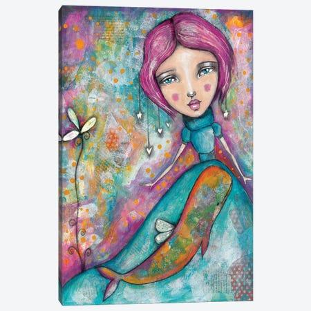 Lady Whale Canvas Print #LPR109} by Tamara Laporte Art Print
