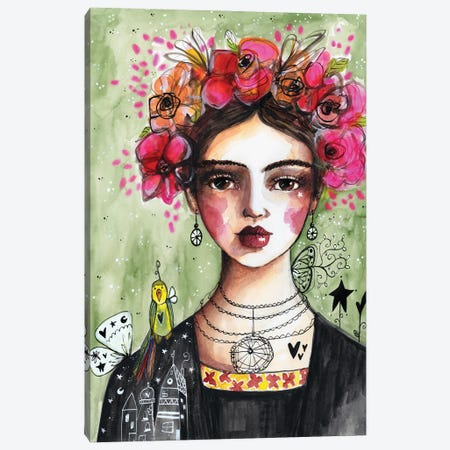Lady With Flowers Canvas Print #LPR110} by Tamara Laporte Canvas Art