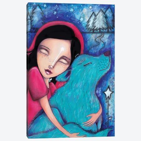 Little Red Riding Hood Wolf Canvas Print #LPR118} by Tamara Laporte Canvas Artwork