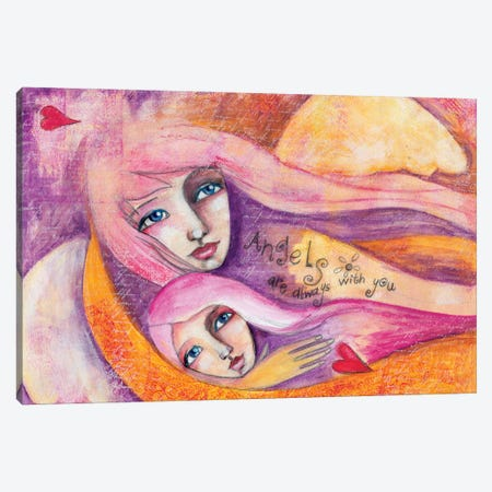 Angels Are With You Canvas Print #LPR11} by Tamara Laporte Canvas Artwork