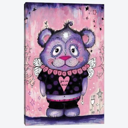 Love Bear Symmetrical Canvas Print #LPR120} by Tamara Laporte Art Print