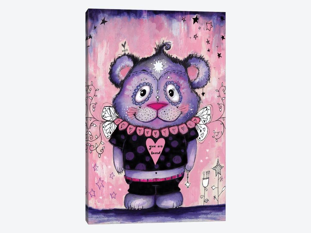 Love Bear Symmetrical by Tamara Laporte 1-piece Canvas Print