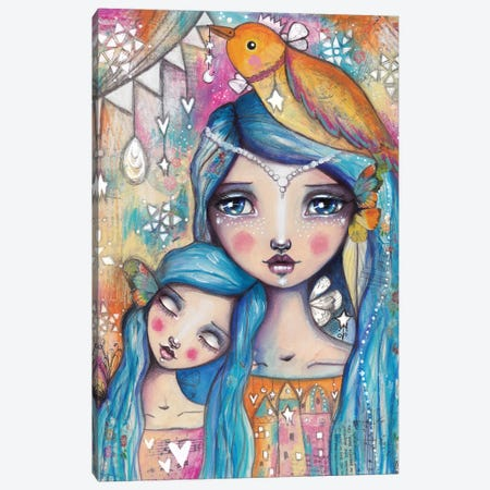 Mother And Daughter Canvas Print #LPR129} by Tamara Laporte Canvas Art Print