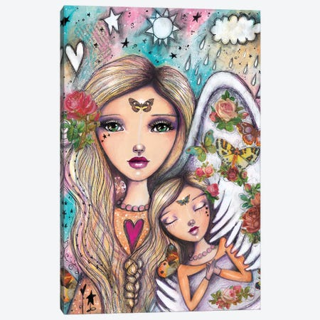 Angels With You Canvas Print #LPR12} by Tamara Laporte Canvas Wall Art