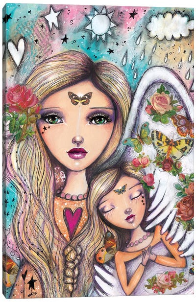 Angels With You Canvas Art Print