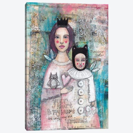 Mother Daughter Canvas Print #LPR131} by Tamara Laporte Canvas Artwork