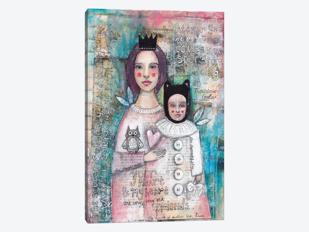 Mother Daughter by Tamara Laporte 1-piece Canvas Art Print