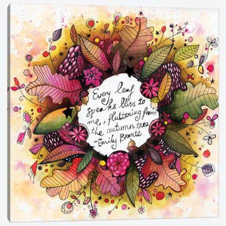 New Autumn Wreath With Quote Canvas Print #LPR134} by Tamara Laporte Art Print