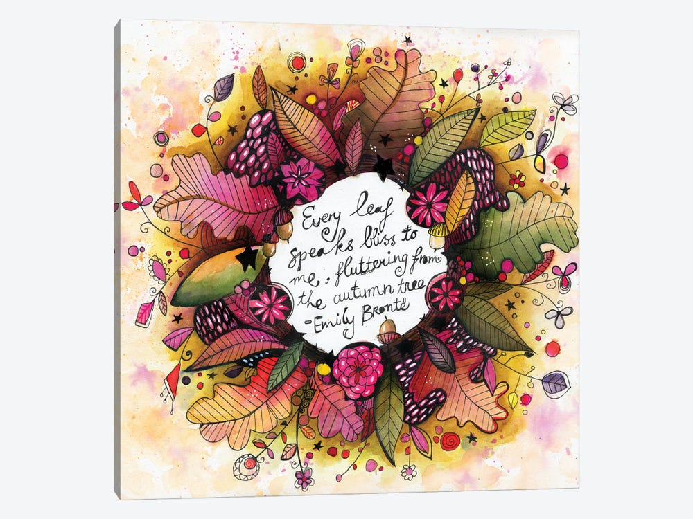 New Autumn Wreath With Quote by Tamara Laporte 1-piece Canvas Wall Art