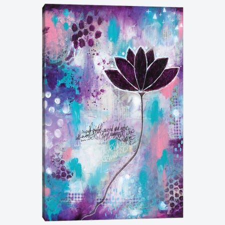 No Mud No Lotus Canvas Print #LPR135} by Tamara Laporte Art Print