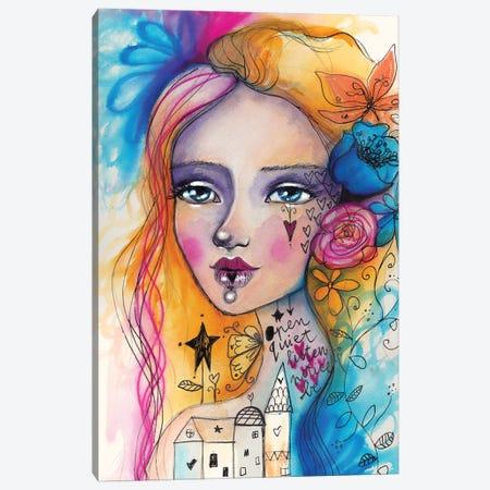 Notice Canvas Print #LPR137} by Tamara Laporte Art Print