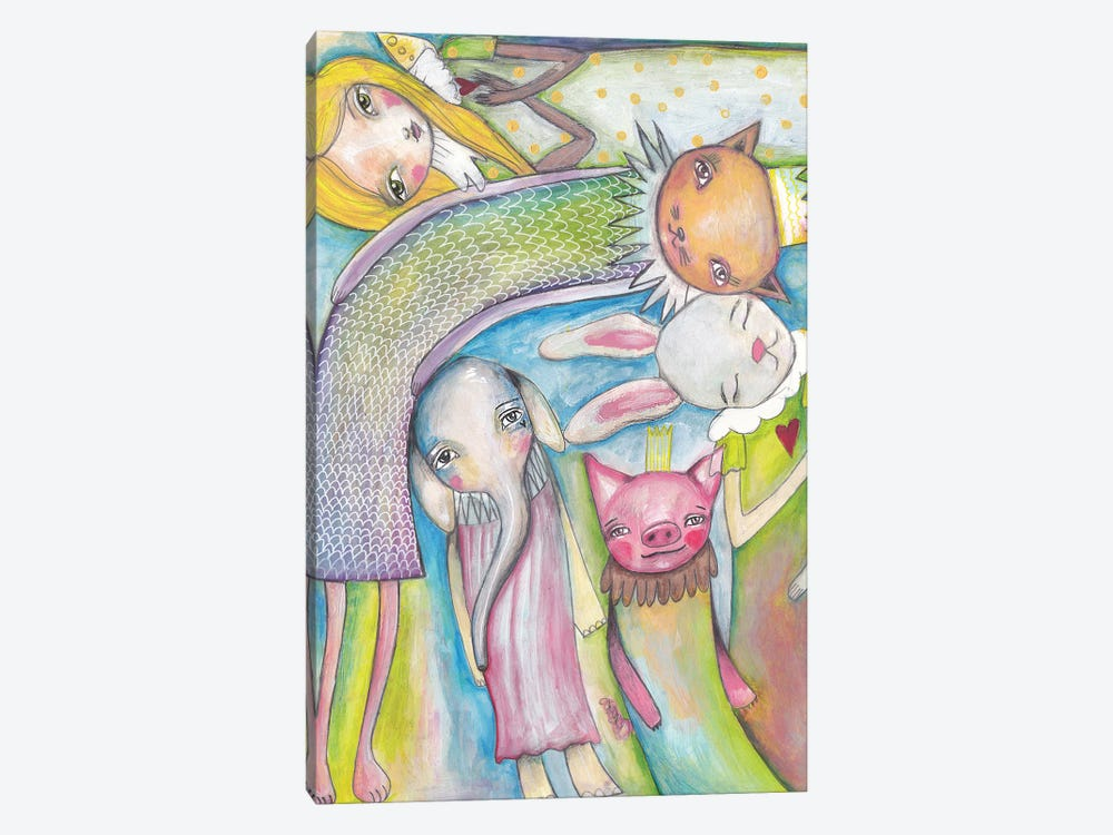 Animals Friends by Tamara Laporte 1-piece Canvas Artwork