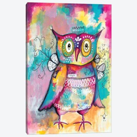 Owl Of Wisdom 3-Piece Canvas #LPR140} by Tamara Laporte Canvas Art Print