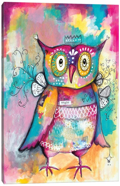 Owl Of Wisdom Canvas Art Print