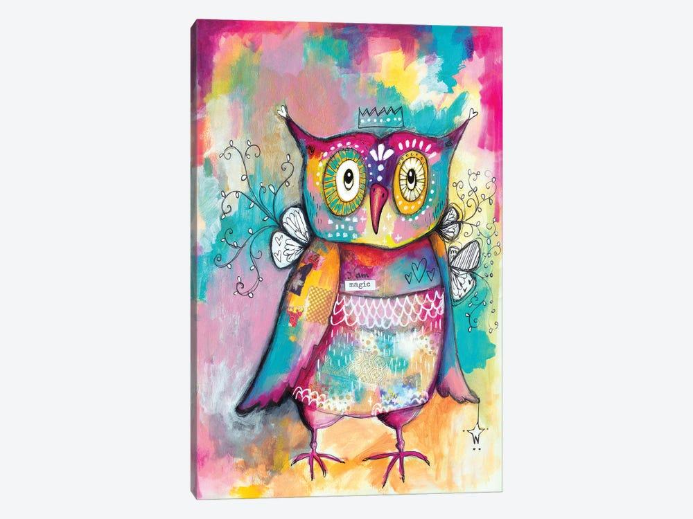 Owl Of Wisdom by Tamara Laporte 1-piece Canvas Print