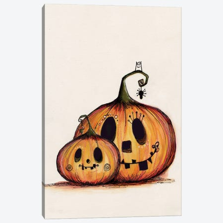 Pumpkin Mummy Baby Canvas Print #LPR147} by Tamara Laporte Canvas Artwork