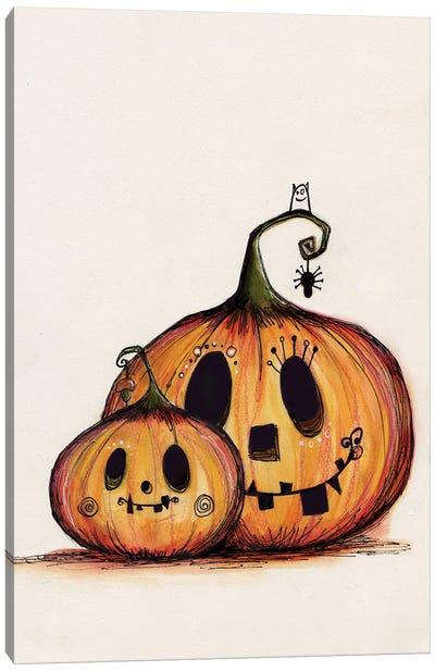 Pumpkin Mummy Baby Canvas Art Print