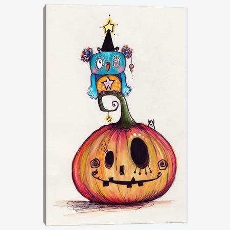 Pumpkin With Quirky Bird Canvas Print #LPR148} by Tamara Laporte Canvas Art Print