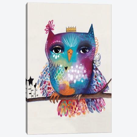 Quirky Bird On Branch Canvas Print #LPR159} by Tamara Laporte Canvas Art