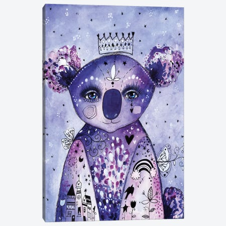 Quirky Koala Canvas Print #LPR160} by Tamara Laporte Art Print