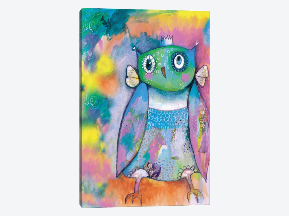 Quirky Owl by Tamara Laporte 1-piece Canvas Wall Art