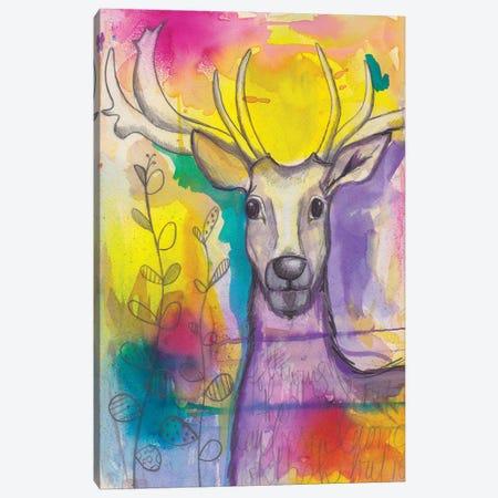 Rainbow Deer Canvas Print #LPR162} by Tamara Laporte Art Print