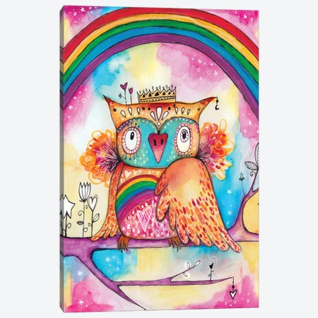 Rainbow Bird Canvas Print #LPR163} by Tamara Laporte Canvas Art Print