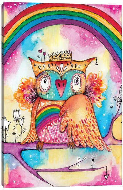 Rainbow Bird Canvas Art Print